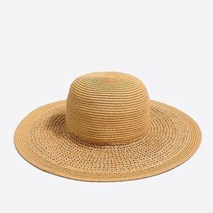 J Crew Floppy Straw Hat